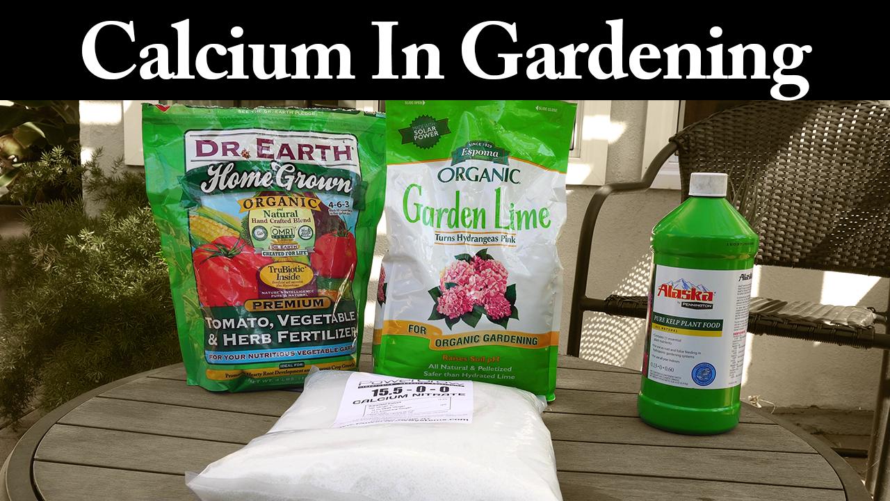 Calcium In gardening