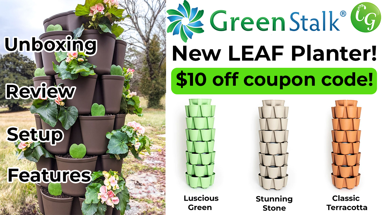 NEW! Green Stalk LEAF Planter Vertical Container Garden – Unboxing & Review!