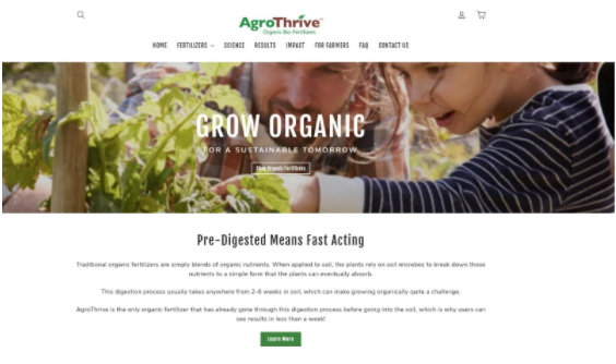 Agrothrive Website